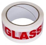 48mm x 66m Printed Glass Handle With Care Low Noise Tape